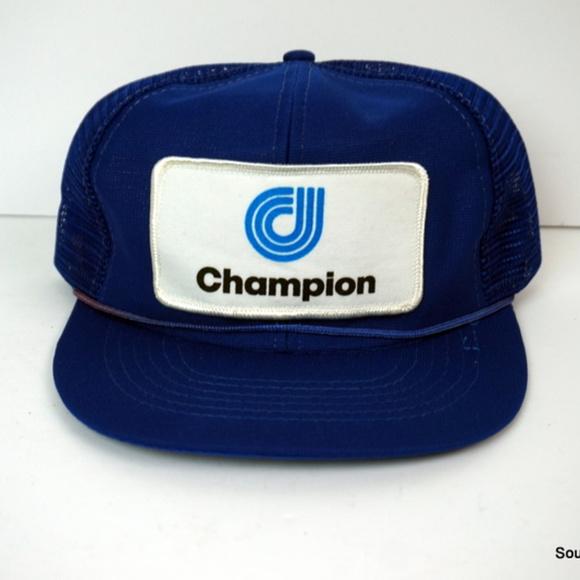 9b4bcdff Designer Award Cap Accessories | Vintage Champion Patch Logo Trucker ...